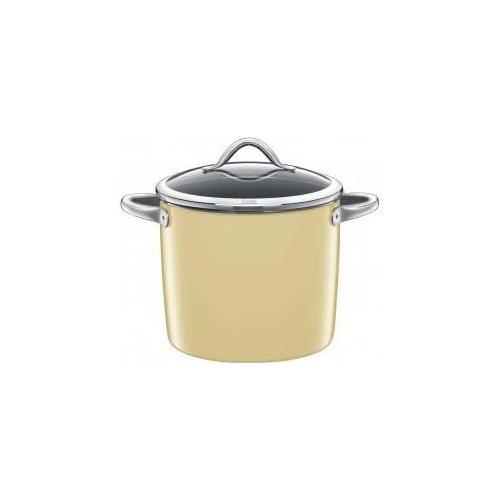 SILIT Pentola alta c / coperchio vitaliano 24cm 8,5lt. vanilla silargan