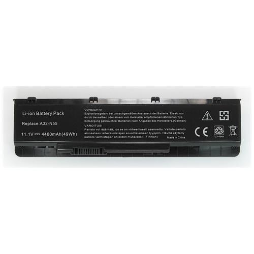LI-TECH Batteria Notebook compatibile per ASUS N55SF-S2204V 10.8V 11.1V 6 celle 4400mAh nero 48Wh