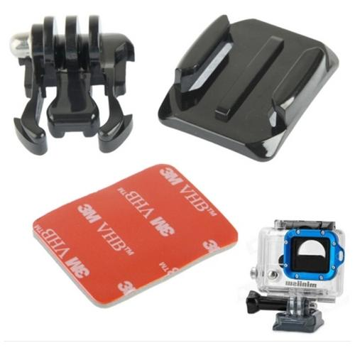 Network Shop Kit Supporto Per Superfici Curve M-af Per Camera Gopro Hd Hero 2 / 3 / 3+ / 4