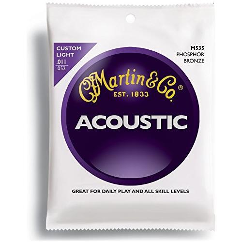 Martin Corde per Chitarra Acustica M535 Phosphor Custom Light Strings (11-52)