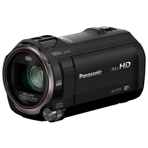 "PANASONIC HC-V777 Nero Sensore MOS BSI 24Mpx Full HD Zoom Ottico 20x Display 3"" Stabilizzatore 5 Assi Wi-Fi / NFC"