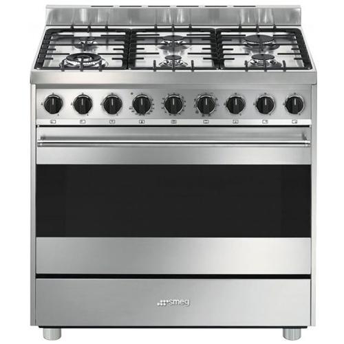 SMEG - Cucina Elettrica B9GMXI9 Serie Master 6 Fuochi a Gas Forno ...