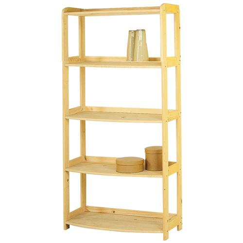 HOMEGARDEN - Scaffale libreria da ufficio in legno massello grezzo ...