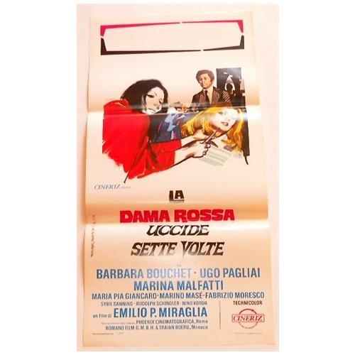 Vendilosubito Locandina Originale Del Film La Dama Rossa Uccide Sette Volte 1972