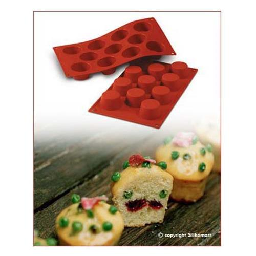Silikomart Stampo muffins 11 cavita 5cm classic terracotta silicone