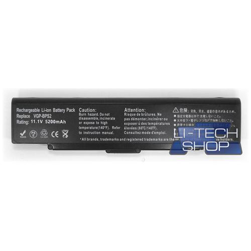 LI-TECH Batteria Notebook compatibile 5200mAh nero per SONY VAIO VGNSZ281PXK1 10.8V 11.1V 6 celle