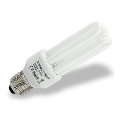 Beghelli 8 Lampadine Compact Fluorescente Luce Calda E27 25w Cod. 50204