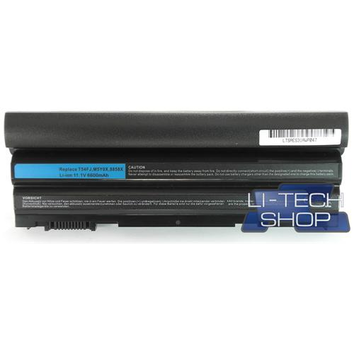 LI-TECH Batteria Notebook compatibile 9 celle per DELL LATITUDE E6530 pila 73Wh 6.6Ah