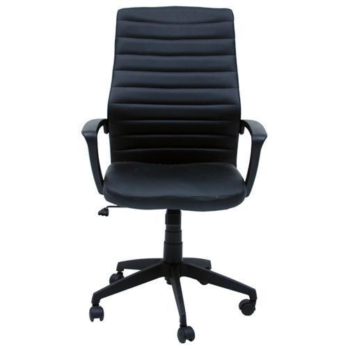 HOMEGARDEN Poltrona direzionale sedia ufficio studio in ecopelle oscillante nera