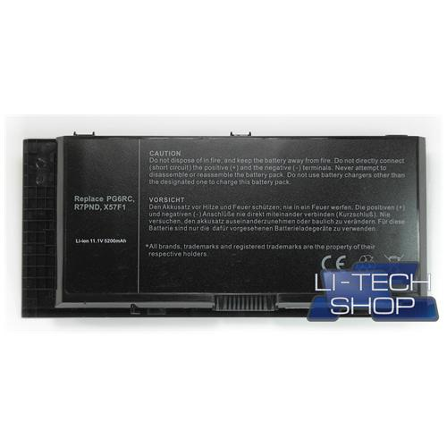 LI-TECH Batteria Notebook compatibile 5200mAh per DELL CN-0JHYP2 nero 5.2Ah