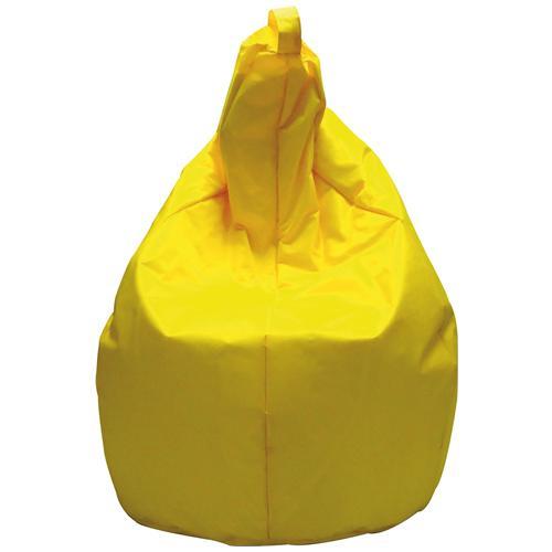 BIACCHI Pouf In Nylon Modello Pera Con Imbottitura In Polistirolo Colore Giallo