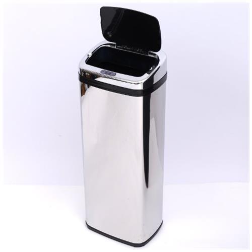 Outsunny Cestino dei rifiuti in acciaio inox con sensore automatico a infrarossi 50L