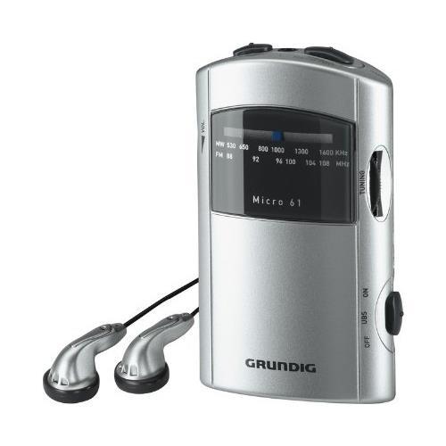 GRUNDIG Radio Portatile GRR1991 Micro 61 - Argento RICONDIZIONATO