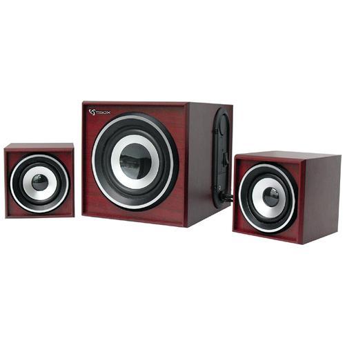 SBOX ICSB-SP3035 - Sistema Speaker Stereo con Subwoofer 2.1 16W