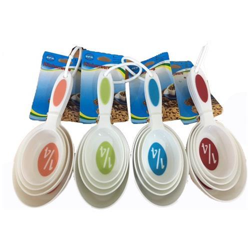 Takestop Set 4 Cucchiaini Cucchiai Misurini Di Precisione Da 59 Ml A 237 Ml In Plastica Dosatori Per Dolci Pasticceria Colore Casuale