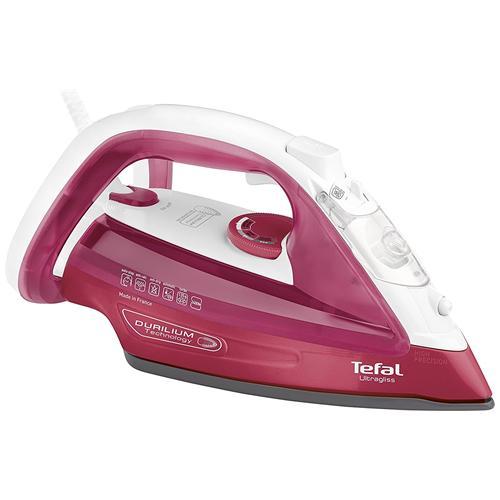TEFAL Ultragliss Ferro da Stiro a Vapore Potenza 2400 Watt Colore Rosa / Bianco