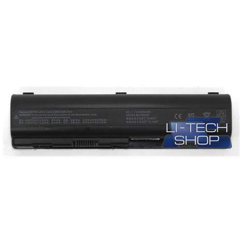 LI-TECH Batteria Notebook compatibile per HP COMPAQ 7F08CA 6 celle 4400mAh nero 48Wh