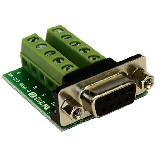 EXSYS EX-49005, 9p D-SUB, 10p, Femmina / femmina, Verde, Argento, RoHS, 0 - 55 C