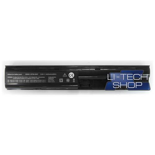 LI-TECH Batteria Notebook compatibile per HP COMPAQ 650938-001 10.8V 11.1V nero 48Wh 4.4Ah