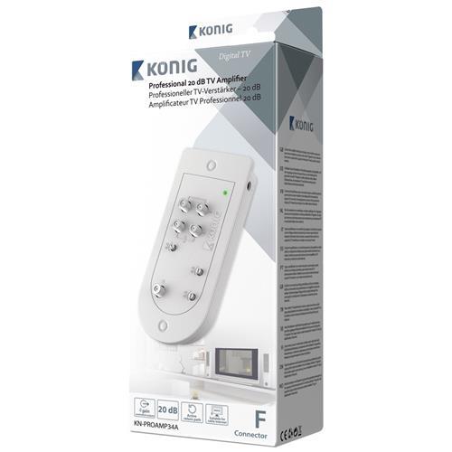 KONIG KN-PROAMP34A, F connector, Bianco