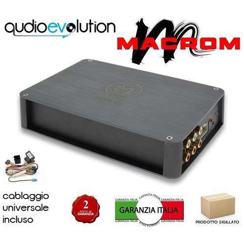 macrom M-dspa. 401 Amplificatore 4 Ch Con Dsp Interno Nuovo Gar. Italia