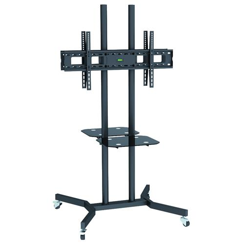 TECHLY ICA-TR7 - Supporto a Pavimento con Mensole Trolley 2 TV LCD / LED / Plasma 37-70''
