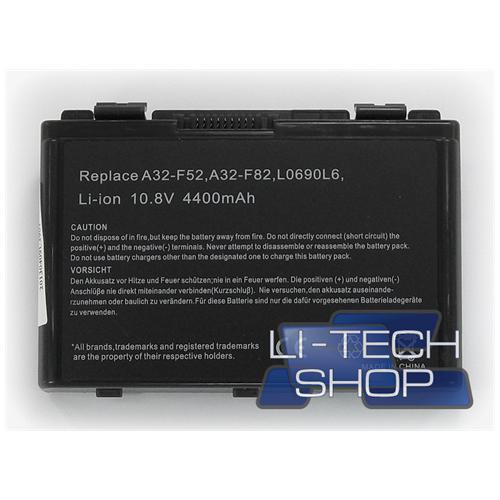 LI-TECH Batteria Notebook compatibile per ASUS K61ICJX012X 10.8V 11.1V 6 celle 4400mAh nero 4.4Ah