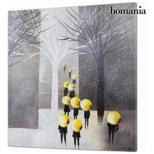 Homania Dipinto Olio Gente By