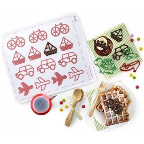 Lekué Kit Decomat Kids Lekuè Pompetta E Accessori Per Decorare Torte Dolci, Penna Decopen
