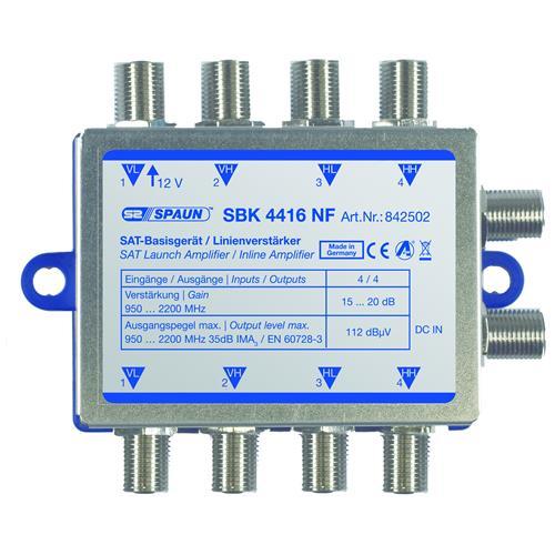 Spaun SBK 4416 NF, 4W, 100 - 240V, 47 - 63 Hz, -20 - 50 C, 90 x 71 x 27 mm, Grigio