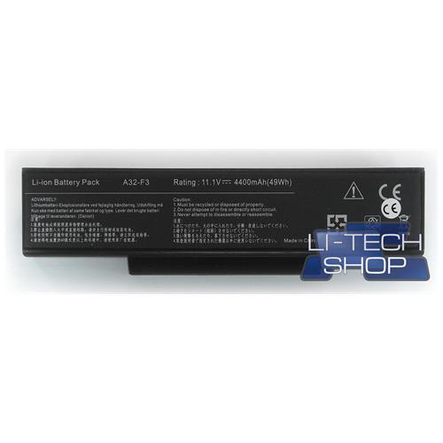 LI-TECH Batteria Notebook compatibile per ASUS F3JP-AP076C 10.8V 11.1V 6 celle nero 48Wh