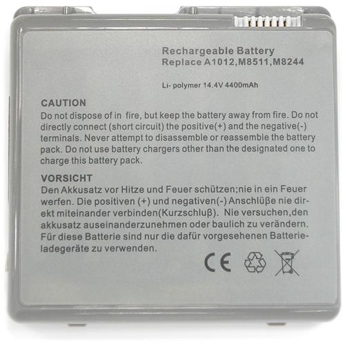 LI-TECH Batteria Notebook per APPLE POWER BOOK G4 15.2 POLLICI 2002 TITANIUM M8858LL-A pila