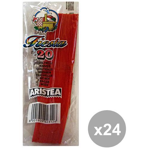 GNP Set 24 Coltelli Colorato 20 Pezzi Rosso Art. 792313 Posate