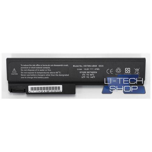 LI-TECH Batteria Notebook compatibile per HP COMPAQ 463310742 6 celle nero pila 48Wh 4.4Ah