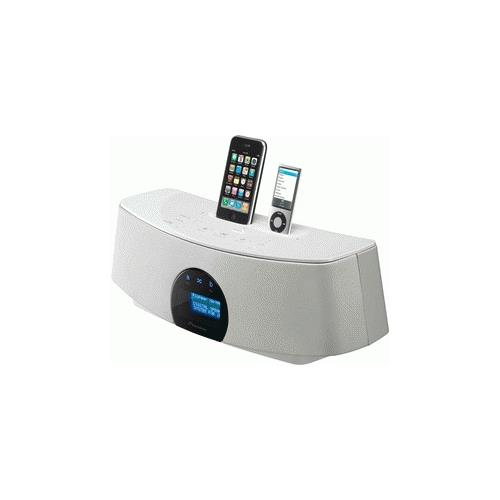 PIONEER XW-NAC3-W, iPhone, iPod, iPod Classic, iPod Nano (2nd, 3rd, 4th, 5th) , iPod touch (1st / 2nd) , iPhone, iPhone 3G, iPhone 3GS, Bianco, 410 x 134 x 153 mm, AC 220/240V, 50/60Hz