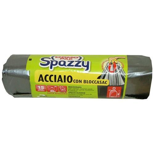 Domopak Sacchi Acciaio 15 Pezzi + Bloccasacco Riordino