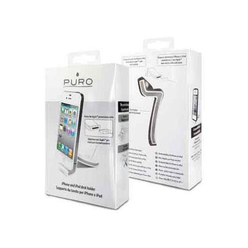 PURO *Puro Supporto Da Tavolo Per Iphone / Ipod Bianco