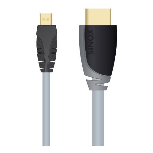 SINOX HDMI Micro (m) - HDMI (m) , 2.0m, 2m, Micro-HDMI, HDMI