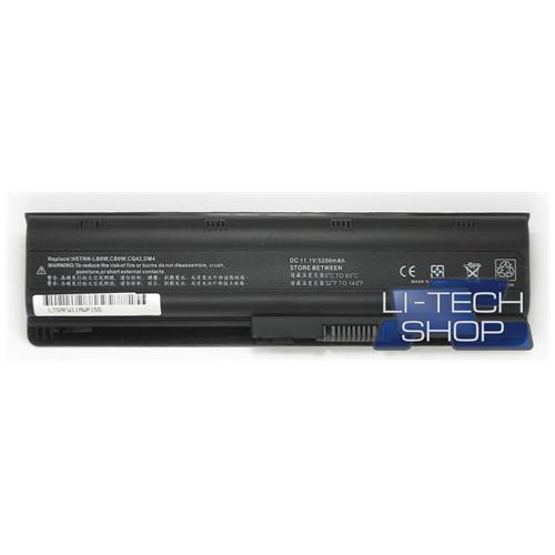 LI-TECH Batteria Notebook compatibile 5200mAh per HP PAVILLION G61325SA 10.8V 11.1V nero