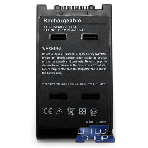 LI-TECH Batteria Notebook compatibile per TOSHIBA SATELLITE PRO A120104 SA120-104 nero pila