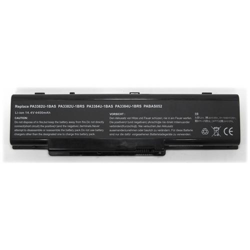 LI-TECH Batteria Notebook compatibile per TOSHIBA SATELLITE SA A60-110 SA60-110 8 celle nero 64Wh