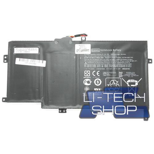 LI-TECH Batteria Notebook compatibile 3900mAh per HP ENVY SLEEK BOOK 61110SW nero pila 57Wh 3.9Ah