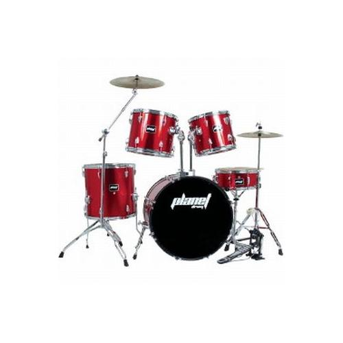 PLANET DRUM Batteria acustica completa DBJ5032 Colore Rosso