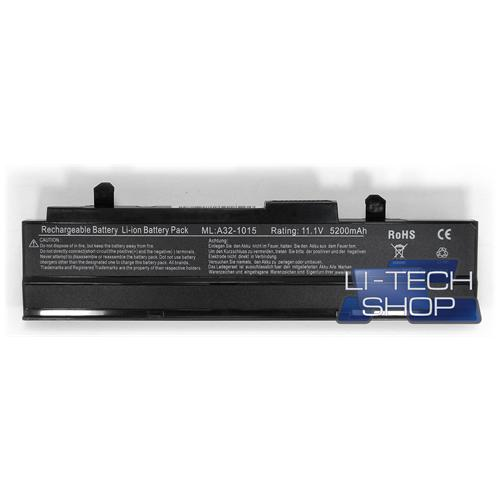 LI-TECH Batteria Notebook compatibile 5200mAh nero per ASUS EEEPC EEE PC EEPC 1215PSIV028M 5.2Ah