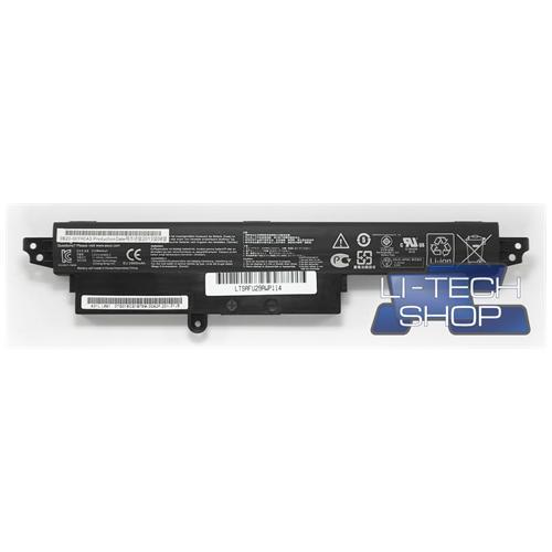 LI-TECH Batteria Notebook compatibile 2900mAh per ASUS OB11O-00240100E nero computer