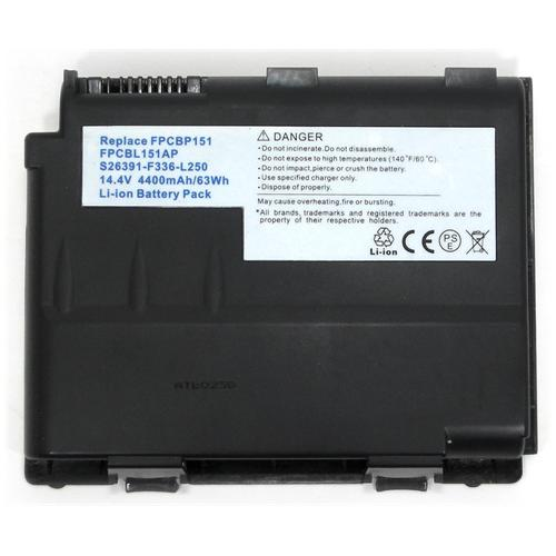 LI-TECH Batteria Notebook compatibile per FUJITSU CP255102-XX 14.4V 14.8V 8 celle computer