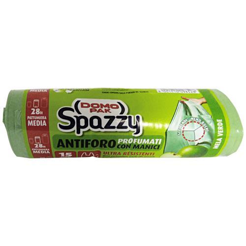 Spazzy Sacchi 52x54 Antiforo Con Maniglie Mela X 15 Pezzi Riordino