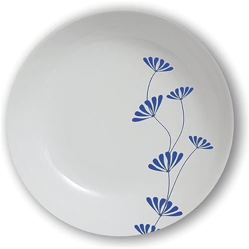 EXCELSA Piatto fondo Orientale blu cm. 21,5.