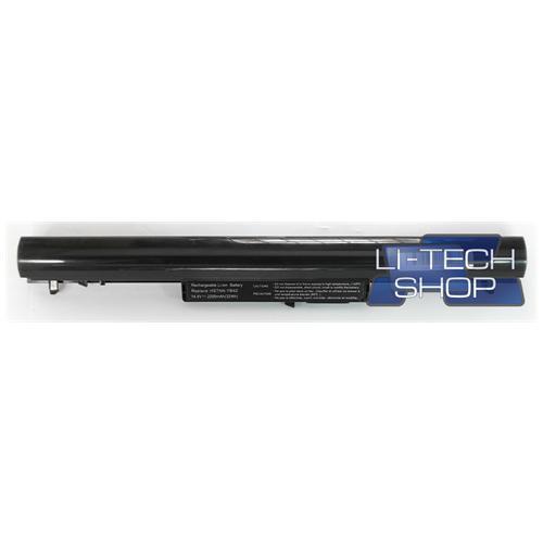 LI-TECH Batteria Notebook compatibile per HP PAVILION SLEEKBOOK 15-B052EA 2200mAh nero pila
