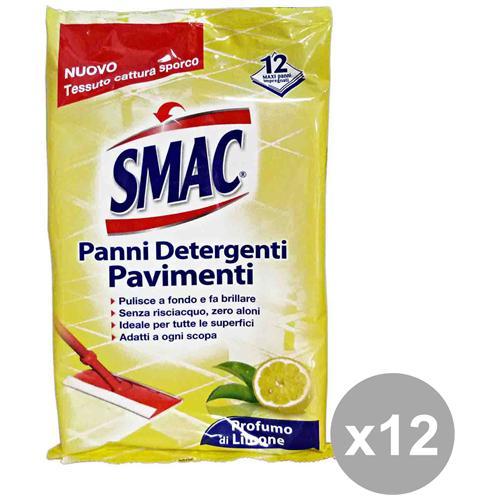 Smac Set 12 Panni Multiuso Detergenti X 12 Pezzi Attrezzi Pulizie